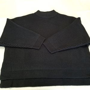 Topshop Oversized Navy Sweater in size 14